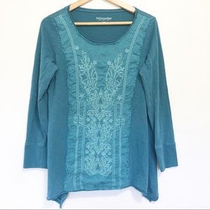 Soft Surroundings Embroidered Long Sleeve Top